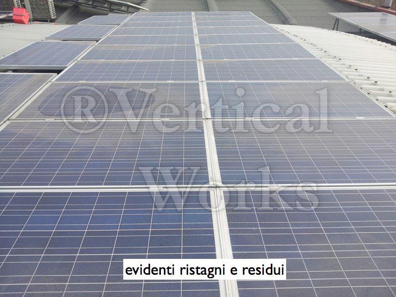 ristagno calcareo su pannello fotovoltaico