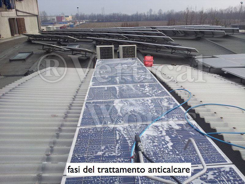 trattamento anticalcare su pannelli fotovoltaici