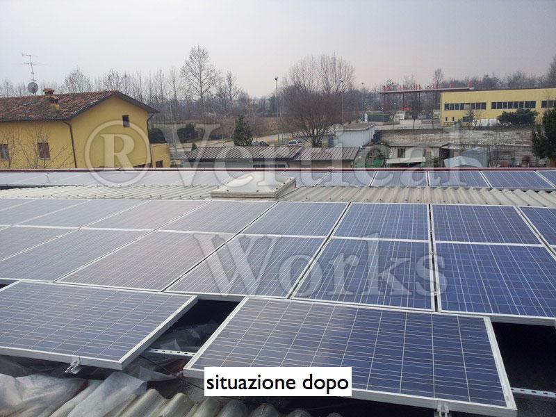 pannelli fotovoltaici dopo il lavaggio
